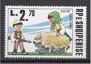 Le loup et l'agneau dans LITTERATURE timbre-300x211